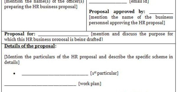 Free Business Proposal Template – Hr Proposal Template