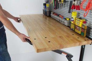 Garage Ideas The Well Organized Garage Bench Solution Folding Workbench Garage Work Bench Steel Workbench