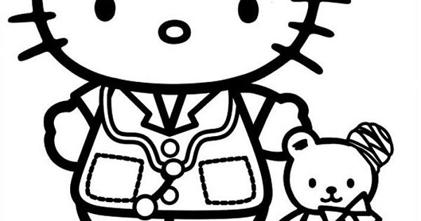 hello kitty coloring pages nurse - photo#5