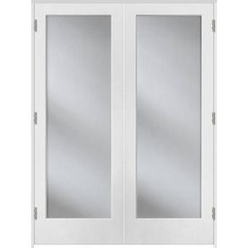 Reliabilt Primed Prehung Solid Core 1 Lite Clear Glass Interior Door Common 60 In X 80 In Actua Prehung Interior Doors Doors Interior Glass Doors Interior