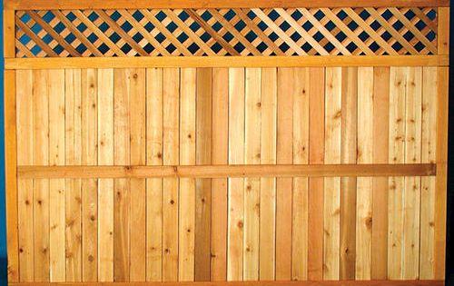 5 4 Quot H X 8 W Lattice Top Cedar Fence Panel Diamond At