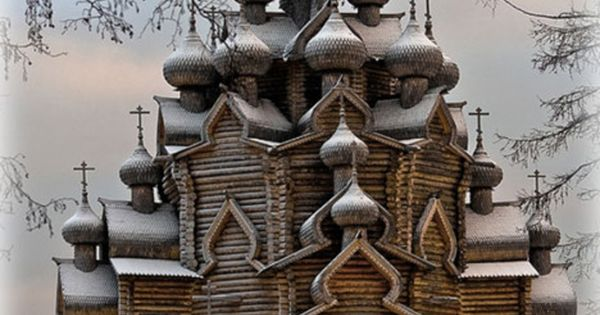 Old wooden church in Sudal, Russia. Amazing architecture