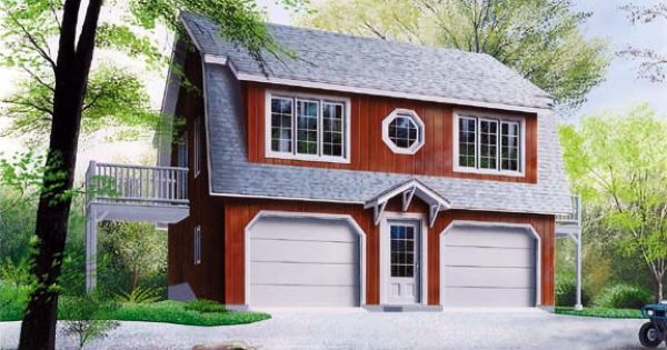 Plan 65011 this deep garage allows for a large for Large garage plans with apartment above