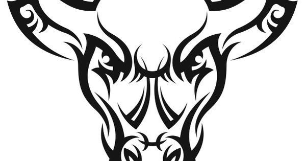 nr47 tribal tattoo bull head decal vinyl sticker laptop wall hood truck car tattoo bull. Black Bedroom Furniture Sets. Home Design Ideas