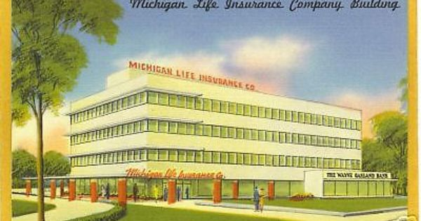 Details About Advertising Postcard Michigan Life Insurance Royal