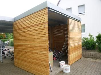 Carport Hutte Mit Rhombusleisten Gartenhaus Design Gartenhaus Carport