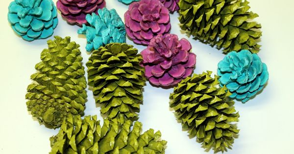 Painted pine cone garland bjl christmas the most for How to paint pine cones for christmas