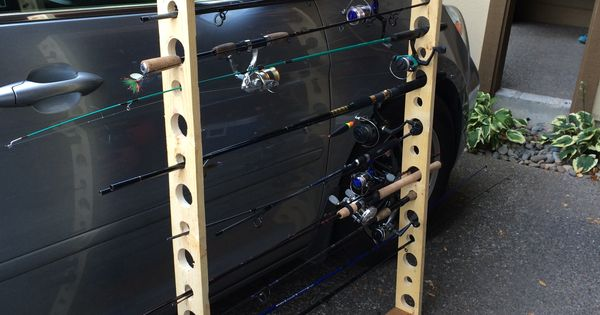 15 Pole Portable Fishing Rod Storage Unit 1 2x4x6 1 1x4x8