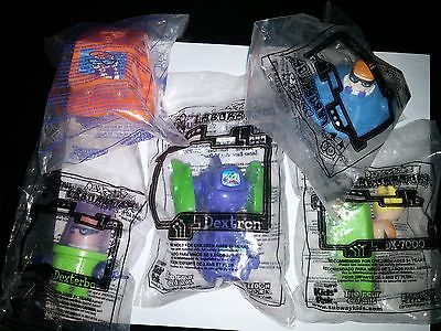 Dexter S Laboratory Complete Set Of 5 Subway Kids Meal Toys 2002