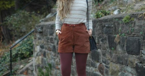 Corduroy shorts and tights.. Maybe a different color shorts.