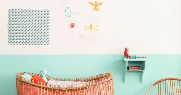 Mur rose pale peindre une pi ce en deux couleurs bleu et for Peindre une piece