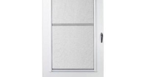 Emco 36 In X 78 In 100 Series White Self Storing Storm Door Storm Doors Storms And Home Depot
