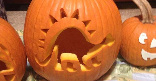 Dinosaur Pumpkin Carving Pumpkin Art Pinterest
