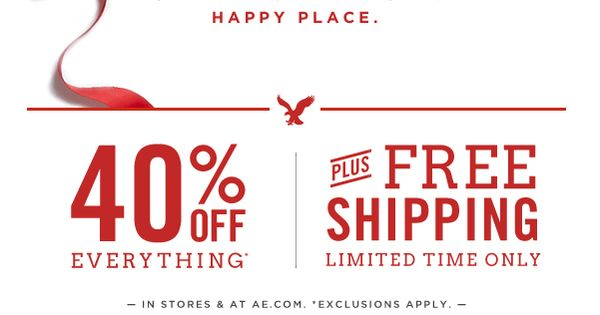 American Eagle Outfitters included an embedded video holidayemail