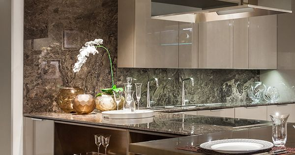 Fendi Casa Ambiente Cucina views from Luxury Living new showroom in Miami