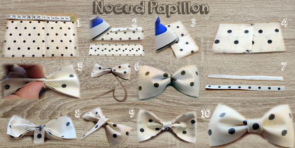 meilleur service prix bas joli design comment coudre un noeud papillon en tissu | NOEUD tissu ...