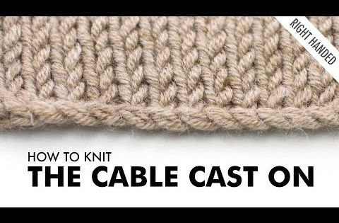 Knitting Tutorial Cable Cast On : The cable cast on knitting technique right handed