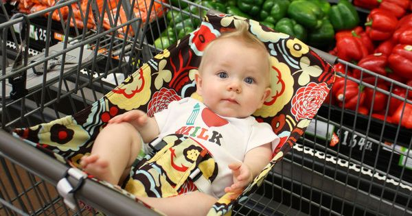 I want one! Shopping cart hammock for before the baby can sit
