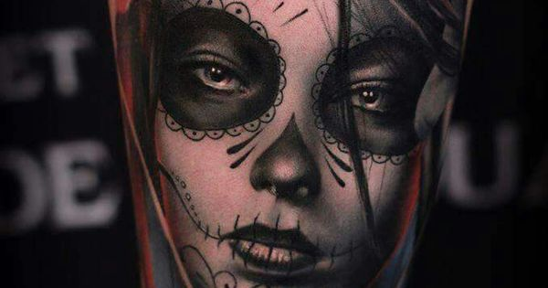 Santa muerte santa muerte tattoo pinterest for Teschi messicani femminili