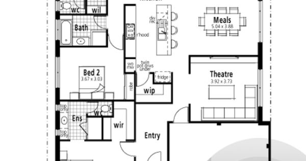 39 the verse 39 floorplan 15m frontage 4x2 theatre near for 10m frontage home designs perth