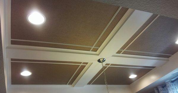 Easy coffered ceiling diy basement ideas pinterest - 7 great basement design ideas ...