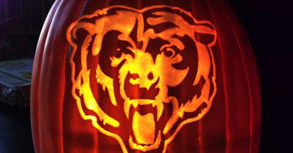 Chicago Bears On A Foam Pumpkin Stoneykins Pattern