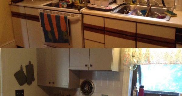 my before amp after painting pressboard laminate cabinets hometalk ideas refurbish pressboard hutch and buffet