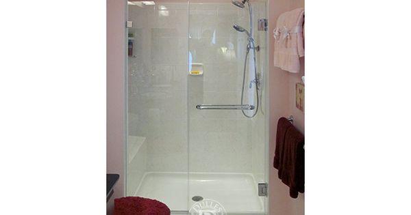 This Glass Shower door has: Towel Bar Inline Shower ...