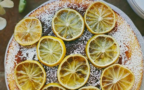 Pauline Boldt's Cornmeal Cake with Candied Lemons / Recipe