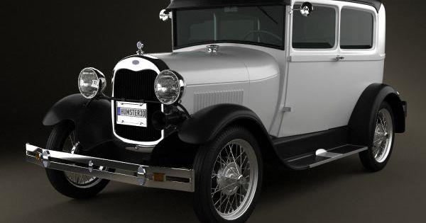 Ford Model A Tudor 1929 3d Model Models 3d And Tudor