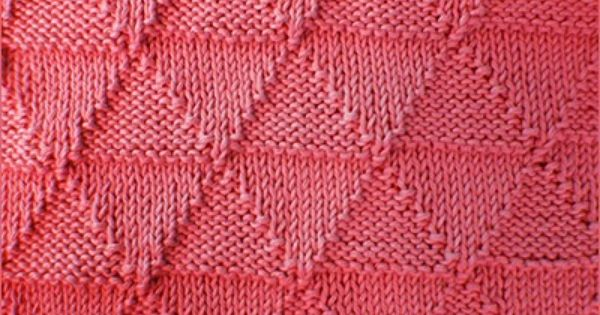 Knitting Stitches Same On Both Sides : Knit/purl Triangles Reversible stitch pattern looks identical on both sides...