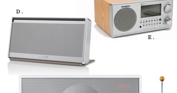 Beautiful home radios (youll never have to look for an iphone charge