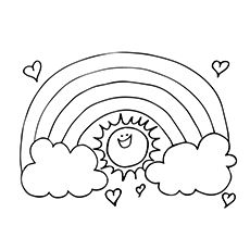 Rainbow Coloring Pages Free Printables Momjunction Sun Coloring Pages Rainbow Drawing Coloring Pages
