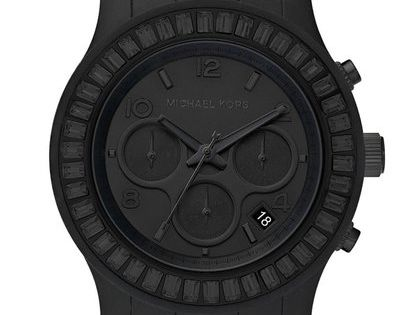 Michael Kors matte black watch. For the boys of course, but I've