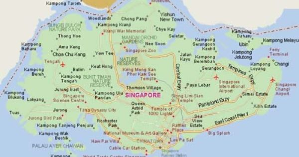 Map Of Singapore Districts Google Search Singapore Map Expat Singapore