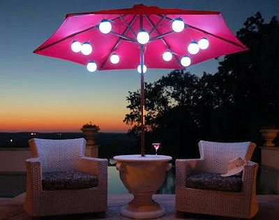 Image result for patio umbrella lights
