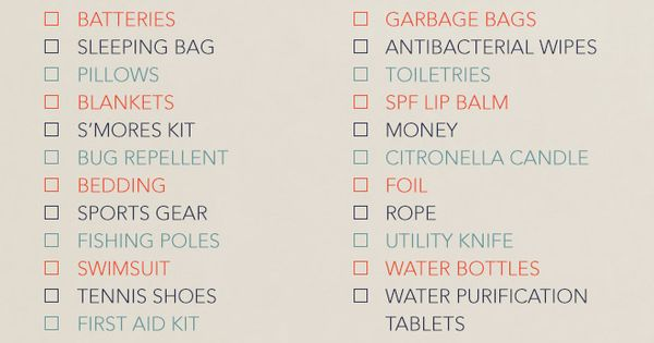 Ultimate Camping Checklist. A handy camping list so you won't forget anything!