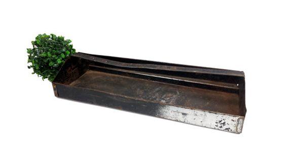 Vintage Metal Tool Box Caddy Rusty Black Toolbox Tote Tray