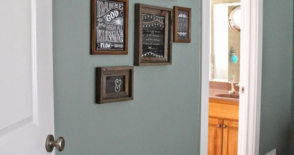 Paint Color Valspar Blue Arrow Dark Rustic Frames Hobby Lobby Master Bedroom Pinterest