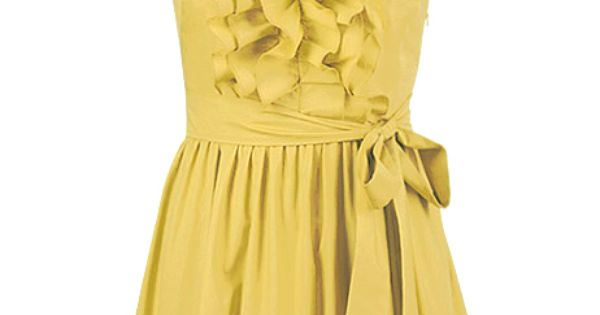 pretty yellow dress $59... I would love this dress in any other