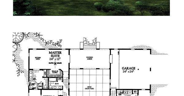 Prairie Style Southwest House Plan 90268 Prairie House