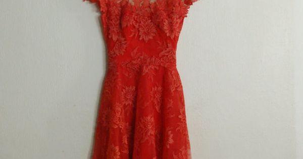 betsy red lace dress...