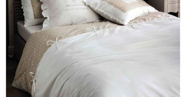 parure de lit 240 x 260 cm en coton blanche sans souci d co shabby pinterest. Black Bedroom Furniture Sets. Home Design Ideas