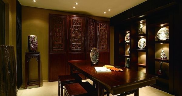Oriental Chinese Interior Design Asian Inspired Study Room