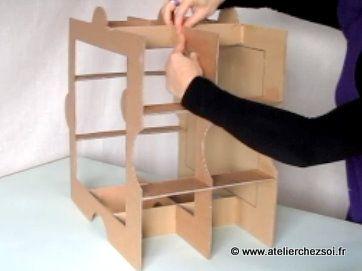 Technique Meuble En Carton Assemblage Structure Croisee Meuble En Carton Meubles En Carton Mobilier De Salon