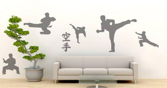 Martial Arts Graphics Wall martial Arts decal Martial Arts Decals Wall Decor