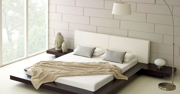 Zen Style Minimalist Bedroom With Platform Bed