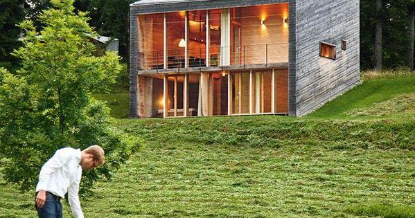 Modernes holzhaus bungalow  Holzhaus am Hang | Schöner Wohnen | Pinterest | Holzhäuschen ...