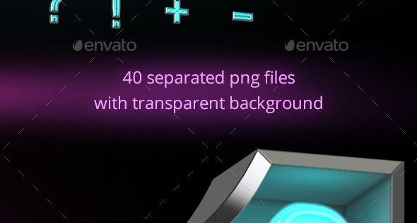 Neon Letters Font – Text 3D Renders