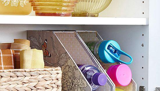 Affordable kitchen storage ideas magazine files water for Cheap kitchen storage ideas